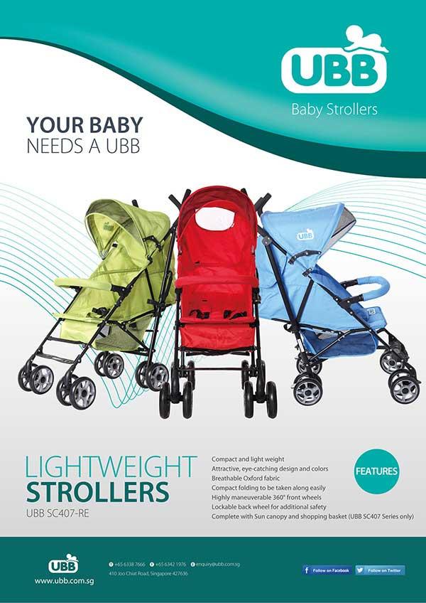 行业属性: 婴童用品海报设计 服务项目: 新加坡ubb童车海报设计